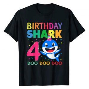 Funny Kids Shark Shirt.Zp Graphic Tshirt 1 Kids Baby Shark 4 Years Old 4th Birthday Doo Doo Shirt T-Shirt