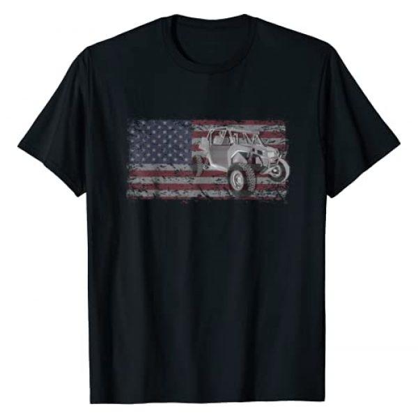 LIFE THREATENING LIFESTYLE T-SHIRT CO. Graphic Tshirt 1 SXS UTV side by side t shirt American flag outdoors tshirt