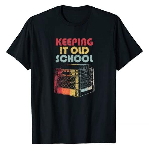 Pack A Punch Graphic Tshirt 1 Vinyl Record Shirt. Retro Keeping It Old School T-Shirt