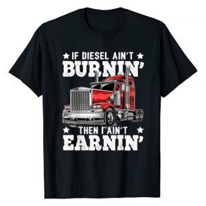 Funny Trucker Shirts for Men Graphic Tshirt 1 Funny Diesel Trucker Big Rig Semi-Trailer Truck Driver Gift T-Shirt