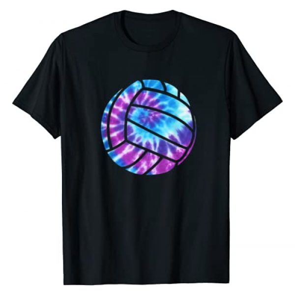 Volleyball Gear For Teen Boys & Girls Graphic Tshirt 1 Volleyball Tie Dye Blue Purple Teenage Girls Perfect Gift T-Shirt