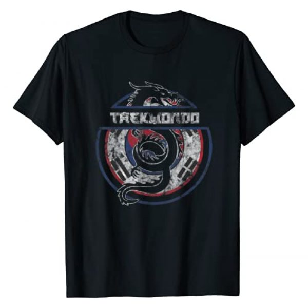 Taekwondo Gifts Martial Arts Dragon Tees Co Graphic Tshirt 1 Taekwondo Shirt Martial Arts Gift Dragon Korean Flag T-Shirt