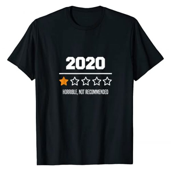 sarcastic 2020 Graphic Tshirt 1 2020 One Star Rating Review - Sarcastic Not Recommended T-Shirt