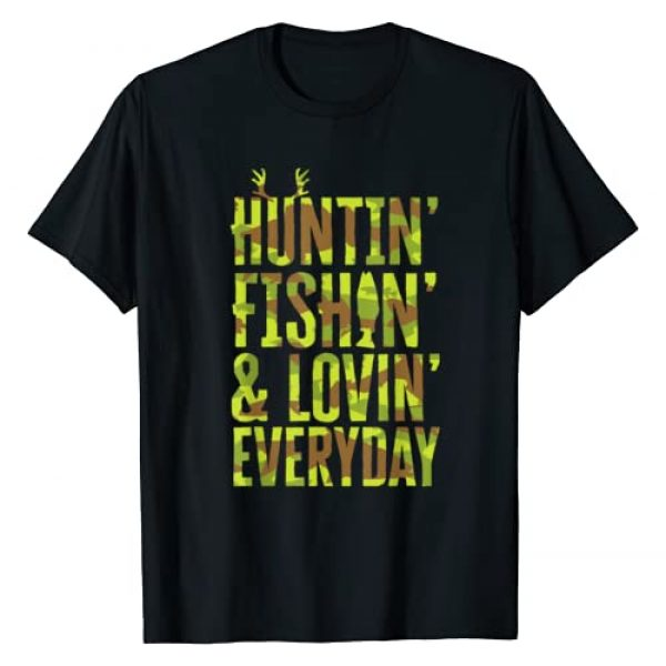 MAD LABS FATHERS DAY SHIRTS Graphic Tshirt 1 Hunting Fishing Loving Every Day For Dad, Fathers Day Camo T-Shirt