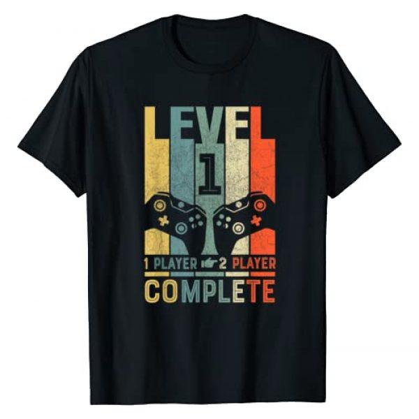 Video Gamer Couple Anniversary Shirts Graphic Tshirt 1 1 Anniversary Shirt Level 1 Complete 1st Wedding Anniversary