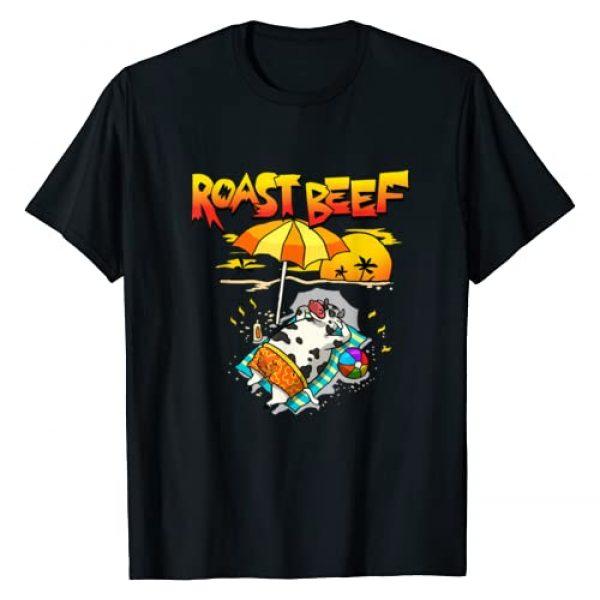 Wowsome! Graphic Tshirt 1 Roast Beef Cow On Beach Vacation Sun Tan Kids Men Women T-Shirt