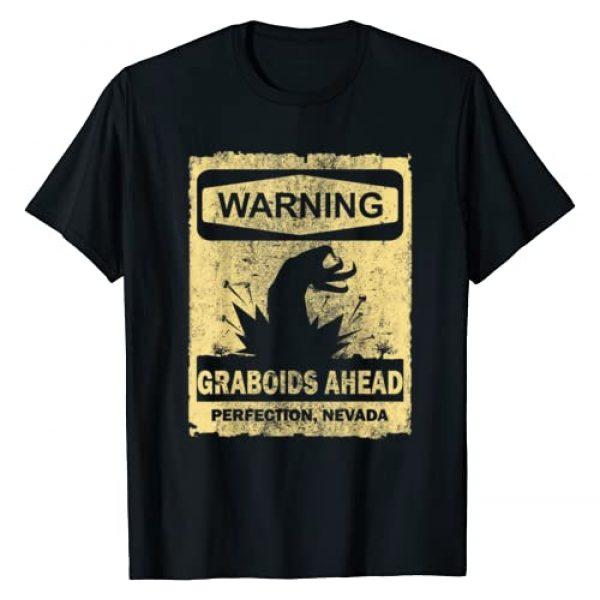 Horror T Shirt Graphic Tshirt 1 WARNING GRABOIDS AHEAD