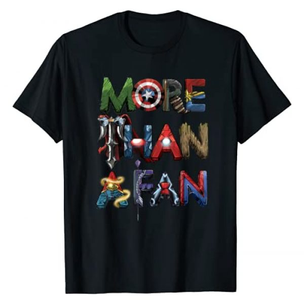 Marvel Graphic Tshirt 1 Avengers More Than A Fan Word Stack T-Shirt