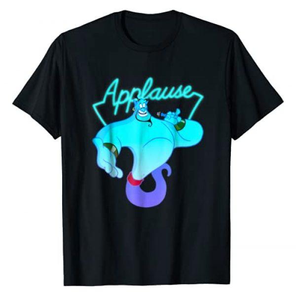 Disney Graphic Tshirt 1 Aladdin Genie Applause Neon Light Graphic T-Shirt
