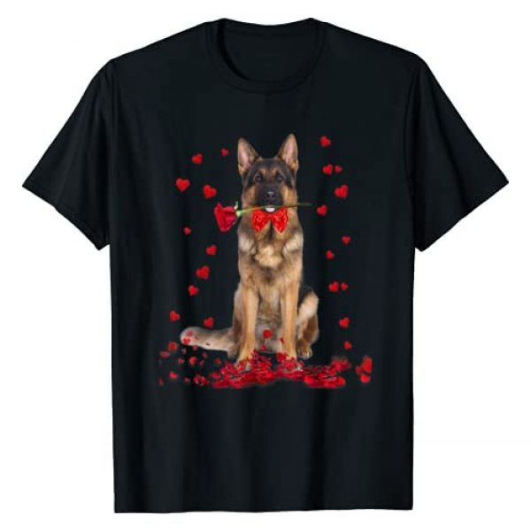 Dog Puppy Valentine Day Tees Graphic Tshirt 1 German Shepherd Valentines Day Shirt Dog Valentine Gift Tee