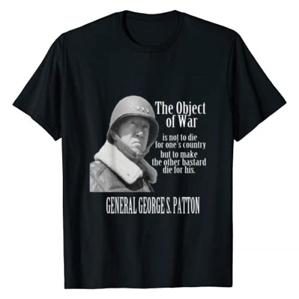 Patriotic Tees Graphic Tshirt 1 The Object of War - General George S. Patton T-Shirt