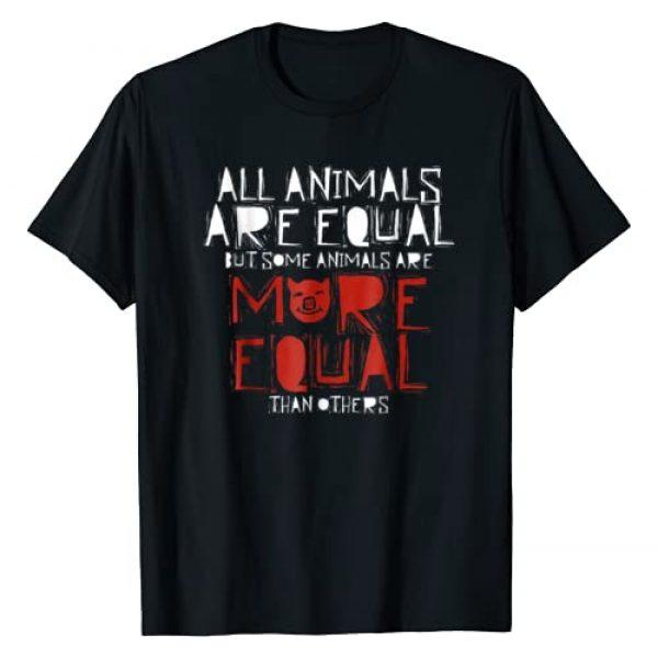 Literary Quotes Graphic Tshirt 1 Farm Animal Political Literary Quote T-Shirt