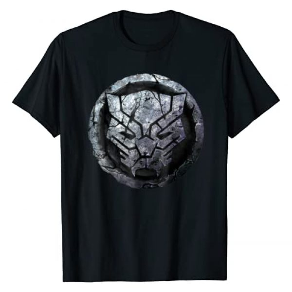 Marvel Graphic Tshirt 1 Black Panther Stone Symbol Graphic T-Shirt