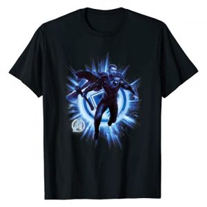Marvel Graphic Tshirt 1 Avengers Endgame Thor Blast Poster Graphic T-Shirt