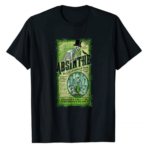 Saf's Design Absinthe Vintage Ad Tee Shirt Graphic Tshirt 1 Absinthe an Elixir of Intellect and Vision Vintage T-shirt