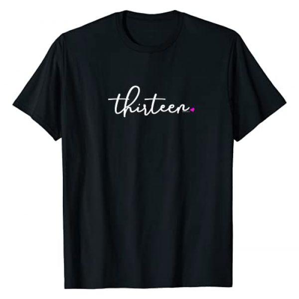 Teen Birthday Shirts by alphabet lab Graphic Tshirt 1 13th Birthday Gifts for Teen Girls Thirteen Pink Age 13 Idea T-Shirt