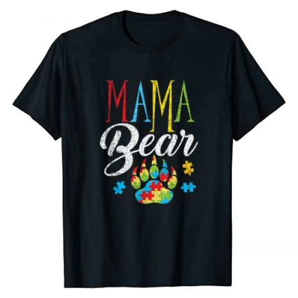 Autism Awareness Tee Kaboom! Graphic Tshirt 1 Autism Mama Bear Puzzle Piece Child Grunge Womens Autistic T-Shirt