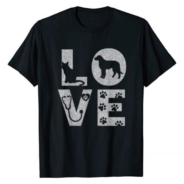 Vet Tech Gifts Graphic Tshirt 1 Vet Tech Love Animals Veterinarian Tech Distressed T-Shirt
