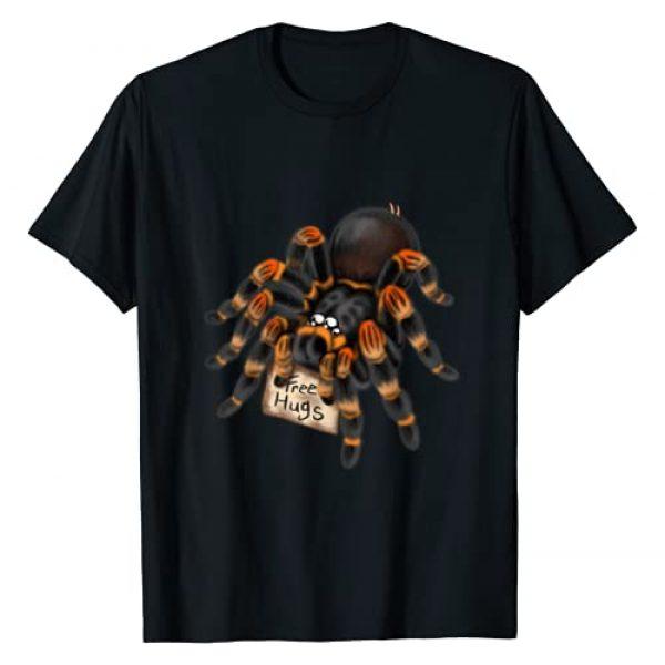 SledgePainter Tees Graphic Tshirt 1 Red Orange Knee Tarantula Spider Hugs T-Shirt