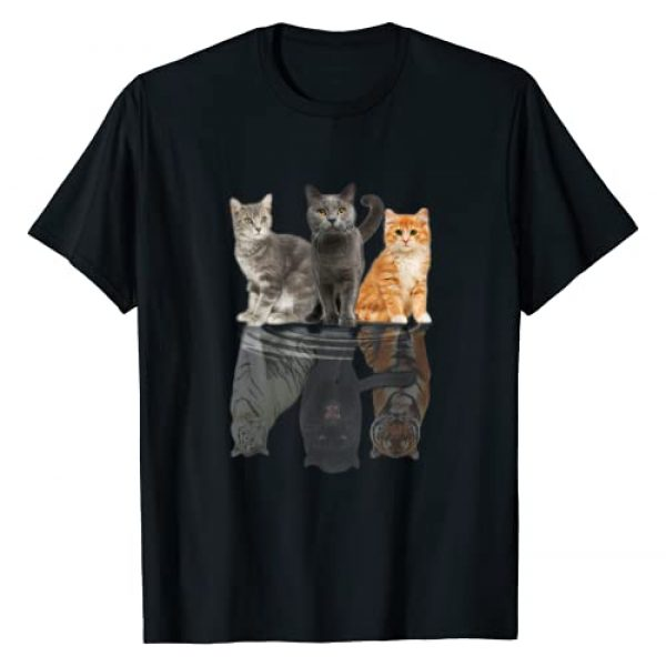 Cats Reflection Funny Cat Lover Tee Graphic Tshirt 1 Cats Reflection Mirror Puma Cheetah Tiger Funny Cat Lover T-Shirt