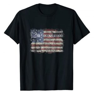Blackwater Trading Graphic Tshirt 1 2nd Amendment Distressed American Flag Patriotic T Shirt