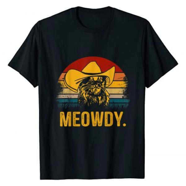 Meowdy T-shirt Graphic Tshirt 1 Vintage Meowdy T-shirt Cowboy Cat Gift T-Shirt