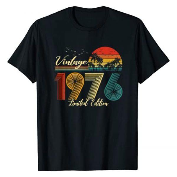 Vintage Limited Edition Graphic Tshirt 1 Vintage 1976 T-Shirt Limited Edition Men Women - 44 Birthday T-Shirt