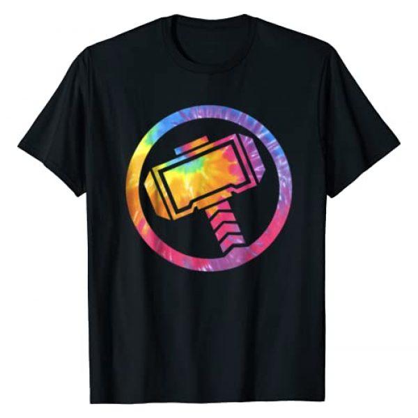 Marvel Graphic Tshirt 1 Thor Tie Dye Hammer Symbol Graphic T-Shirt