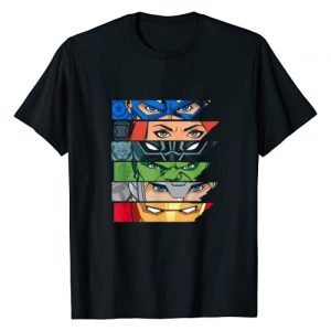 Marvel Graphic Tshirt 1 Avengers Super Hero Eyes Black T-Shirt