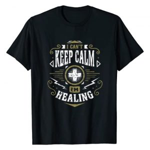 Role Playing Gamers Graphic Tshirt 1 WoW I Can't Keep Calm I'm Healing Healer Gaming T-Shirt