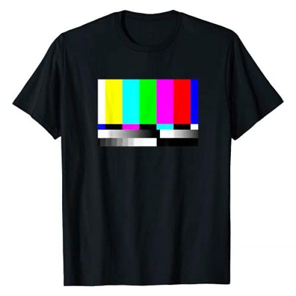 Irregulariteez TV Static Graphic Tshirt 1 TV Static And Color Bar T-Shirt