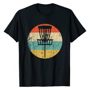 Vintage Retro Style T-Shirts Graphic Tshirt 1 Disc Golf Retro Disc Golf Basket T-Shirt