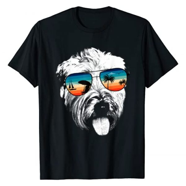 TeeRetro Graphic Tshirt 1 SOFT COATED WHEATEN TERRIER With Glasses Sunglasses Retro T-Shirt
