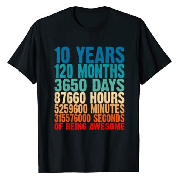 Check out my other 10th Birthday T-shirts Graphic Tshirt 1 10 Years Of Being Awesome Gifts 10 Years Old 10 Birthday T-Shirt