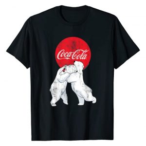 Coca-Cola Graphic Tshirt 1 Christmas Polar Bears Classic Logo T-Shirt