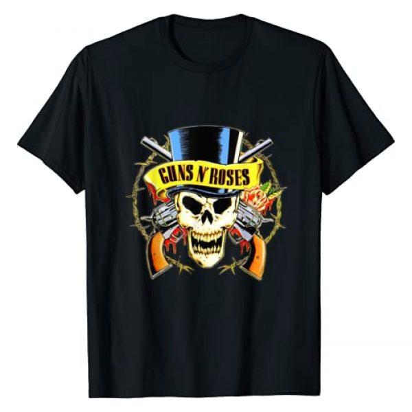 Guns N Roses Graphic Tshirt 1 Guns N' Roses Official Top Hat Skull T-Shirt