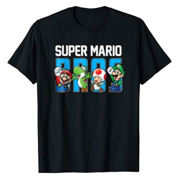 SUPER MARIO Graphic Tshirt 1 Bros Characters Letter Fill Graphic T-Shirt