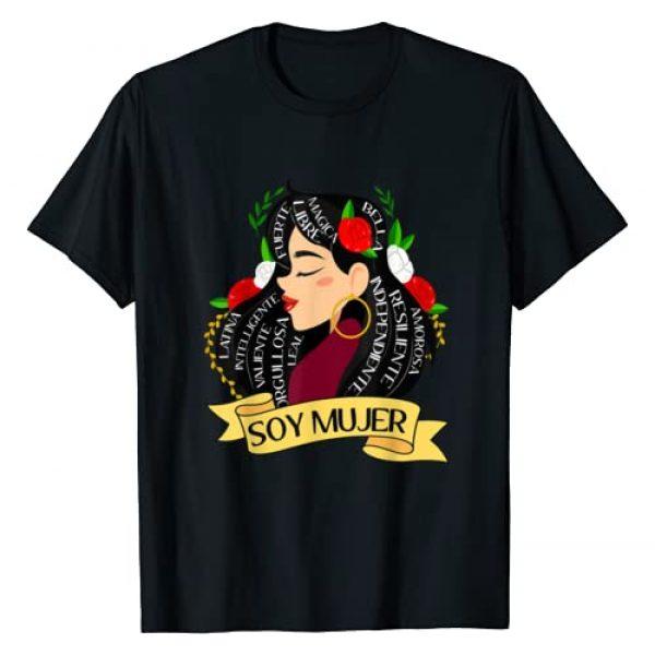 Regalos en Espanol Mujer Latina Graphic Tshirt 1 Soy Mujer Latina Fuerte Independiente Chingona Mujer Latina T-Shirt