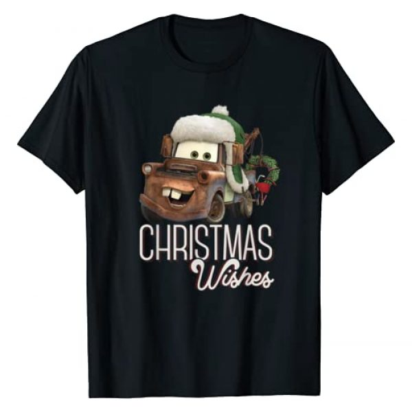 Disney Graphic Tshirt 1 Pixar Cars Tow Mater Christmas Wishes Portrait T-Shirt