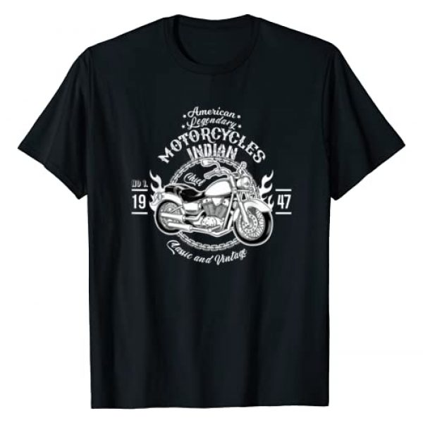 Best Indian Bikers Motorcycle Vintage Gift Co. Graphic Tshirt 1 American Motorcycle Indian Bikers Vintage Retro Riders Gift T-Shirt