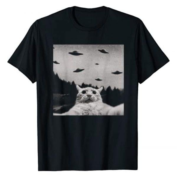 ThreadWeird Graphic Tshirt 1 Alien UFO Funny Cat T-Shirt