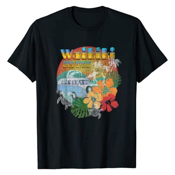 Hawaii Vacation Shirts By DSR Graphic Tshirt 1 Waikiki Oahu Hawaii Shirt Retro Vintage Hawaiian Gift T-Shirt
