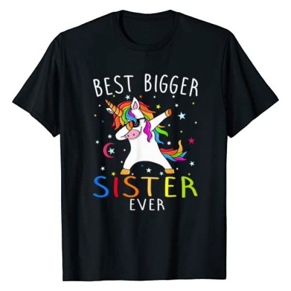 Best Bigger Sister Ever Cool Gift Graphic Tshirt 1 Best Bigger Sister Ever Unicorn T-Shirt