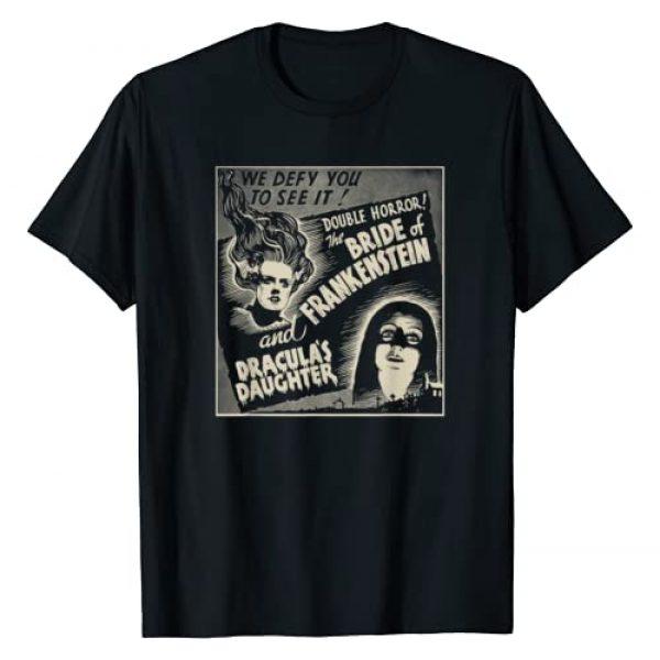 Halloween Vintage Horror Movie Poster Shirt Shop Graphic Tshirt 1 Halloween Monster Poster Horror Movie Dracula Frankenstein T-Shirt