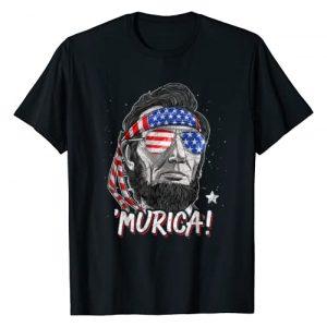 Lique Patriotic Graphic Tshirt 1 Merica Abe Lincoln T shirt 4th of July Men Boys Kids Murica