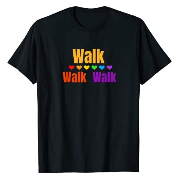 Walk World Graphic Tshirt 1 Heart Walk Indoor Walking Outdoor Walk at Home Pounds Off T-Shirt