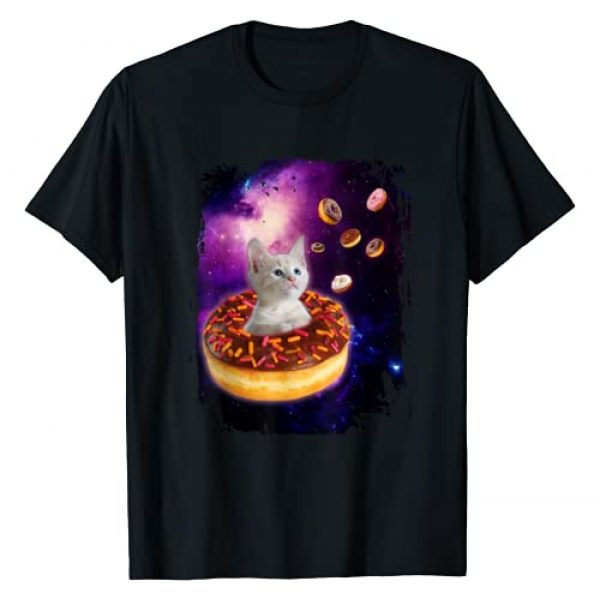 CatKitty Tees Co. Graphic Tshirt 1 Cute Cat inside Donut in Space Boys Girl -Kitty in Space Tee T-Shirt