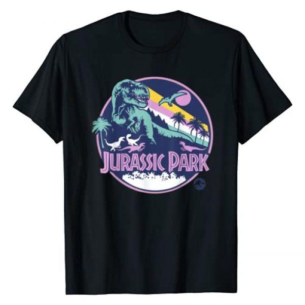 Jurassic Park Graphic Tshirt 1 Purple Retro Dinosaur Scene Graphic T-Shirt