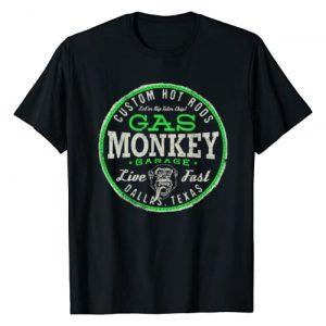 Gas Monkey Garage Graphic Tshirt 1 Live Fast Bright Green Badge T-Shirt
