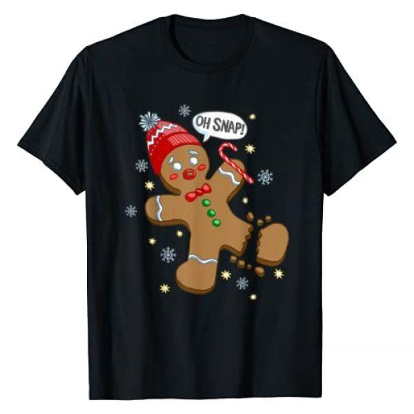 Holiday Humor T-Shirt Graphic Tshirt 1 Gingerbread Man Oh Snap Christmas T-Shirt